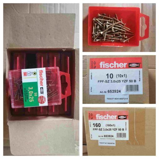 Fischer Screws and nuts, used electricals