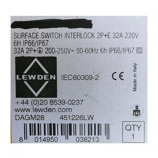 Surface Switch Interlock