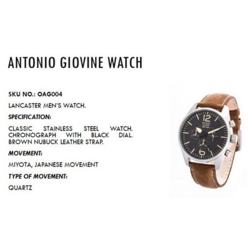 Antonio Giovine Watch