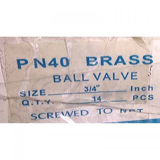 "3/4"" Ball valves"