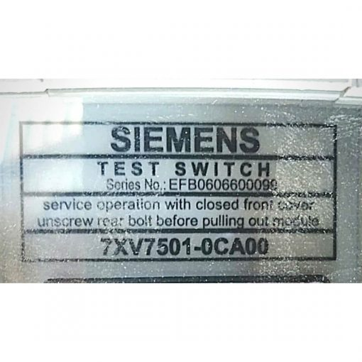 Siemens Test Switch