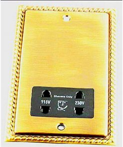 Gold Volex Shaver Socket