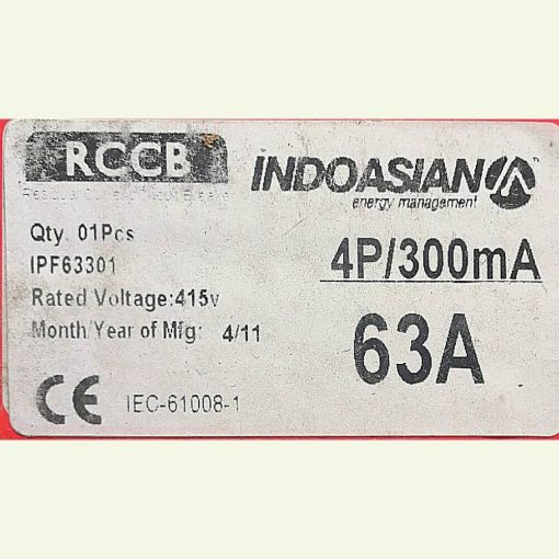 Indoasian 4P 63A RCCB
